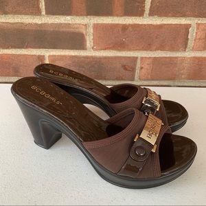 Like new BCBGirls Seath chunky heel slide sandals